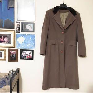 Vintage longline wool coat union USA made sz 9/10